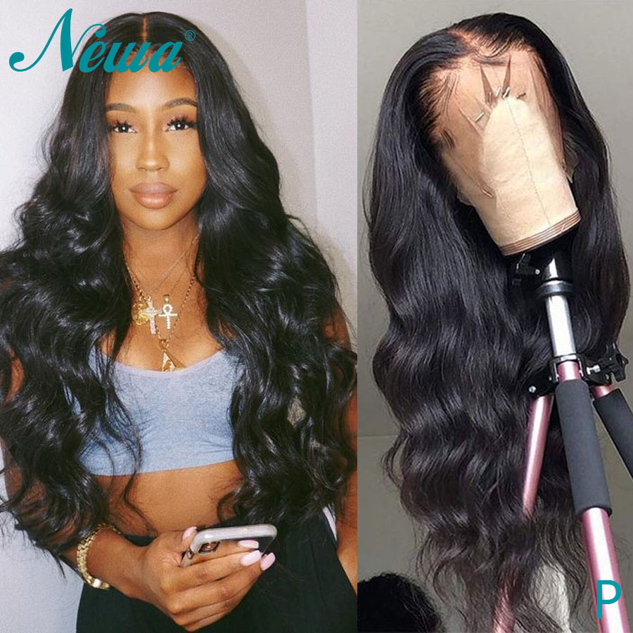 Newa Hair 13X6 Lace Front Human Hair Wigs For Black Women 150% Remy Hair Wigs Brazilian Body Wave Lace Front Wigs Pre Plucked