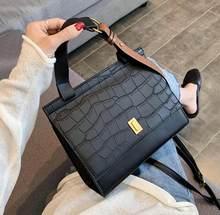 Vintage Stein muster Große Tote tasche 2020 Neue Qualität PU Leder frauen Designer Handtasche Hohe kapazität Schulter Messenger Tasche