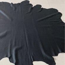 Cuero de calidad de piel de vaca de grano real negro, cuero genuino de grado A, piel suave de vaca, piel de becerro, todo para guantes, ropa