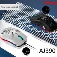 2020 חדש קל משקל Wired עכבר AJ390 חלול החוצה משחקים Mouce עכברים 6 DPI מתכוונן 7Key AJ390R