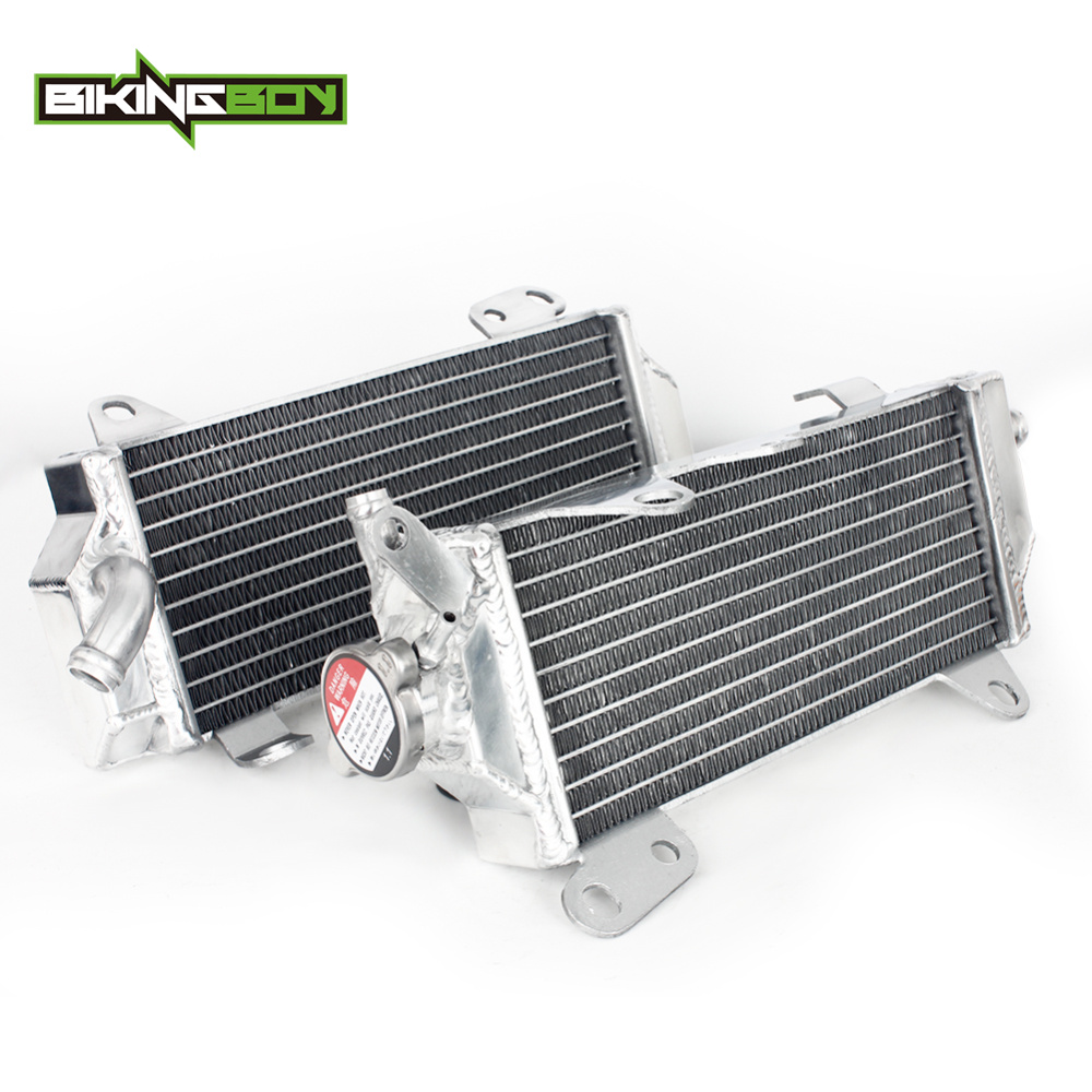 BIKINGBOY For Yamaha <font><b>YZ</b></font> <font><b>450</b></font> F YZ450F 18 19 20 2018 2019 2020 MX Aluminum Engine Water Cooling Radiators Coolers image