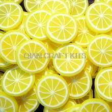 500 шт лимон полимерная глина трость фруктовый 10 мм декоден