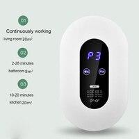 Mini generador de ozono purificador de aire eliminación de formaldehído humo polvo purificación hogar habitación ionizador purificador aire limpiador de aceite difuso| |   -