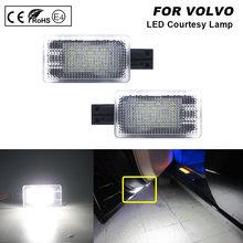 Luz LED de cortesía para maletero de coche, lámpara con cargador de lámpara para puerta de bienvenida, para Volvo V40, V40CC, V60, S60, S80, XC40, XC60, XC90, 2 uds.