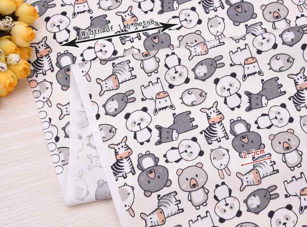 Cute Animal Printed tkanina bawełniana typu diagonal DIY szycie do patchworku pikowanie Handmade tekstylny koc pościelowy dla dziecka i dziecka