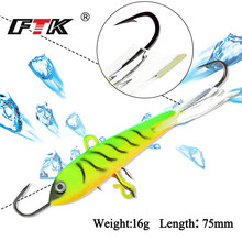 FTK Ice Fishing Lure 1PC  16g/75mm Jig Bait hooks bass bait Hard artificial minnow