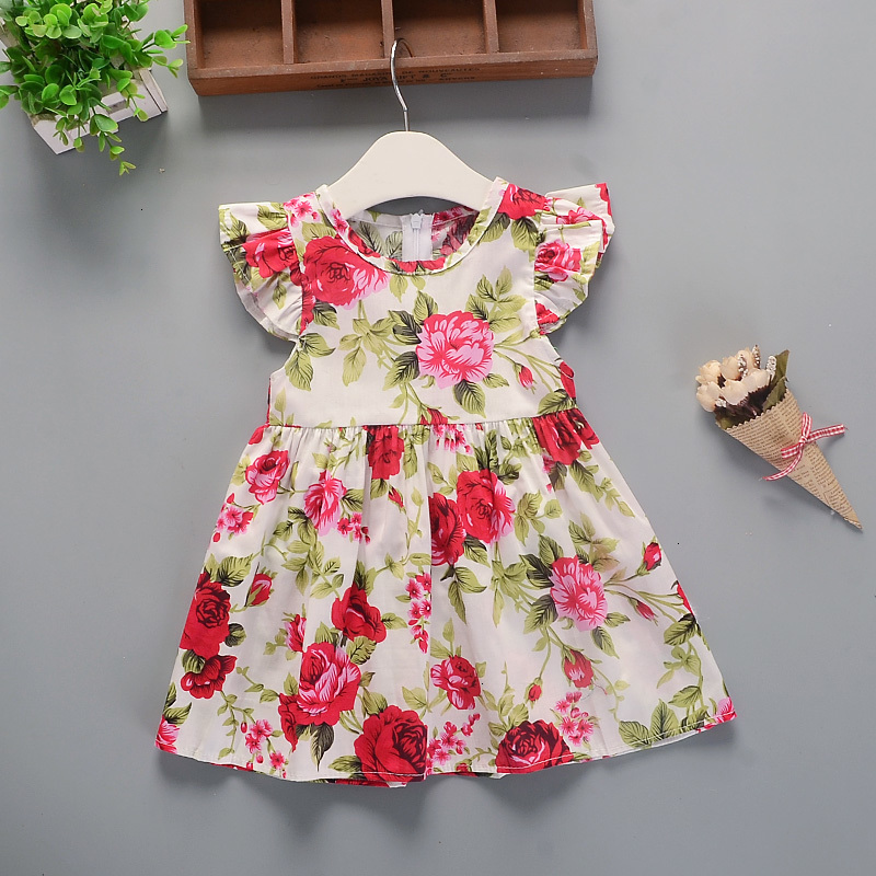 Hc2b598859b5542f2b3da4936a0d4fce8l Hot 2018 New Summer Dress Toddler Kids Baby Girls Lovely Birthday Clothes Blue Striped Off-shoulder Ruffles Party Gown Dresses