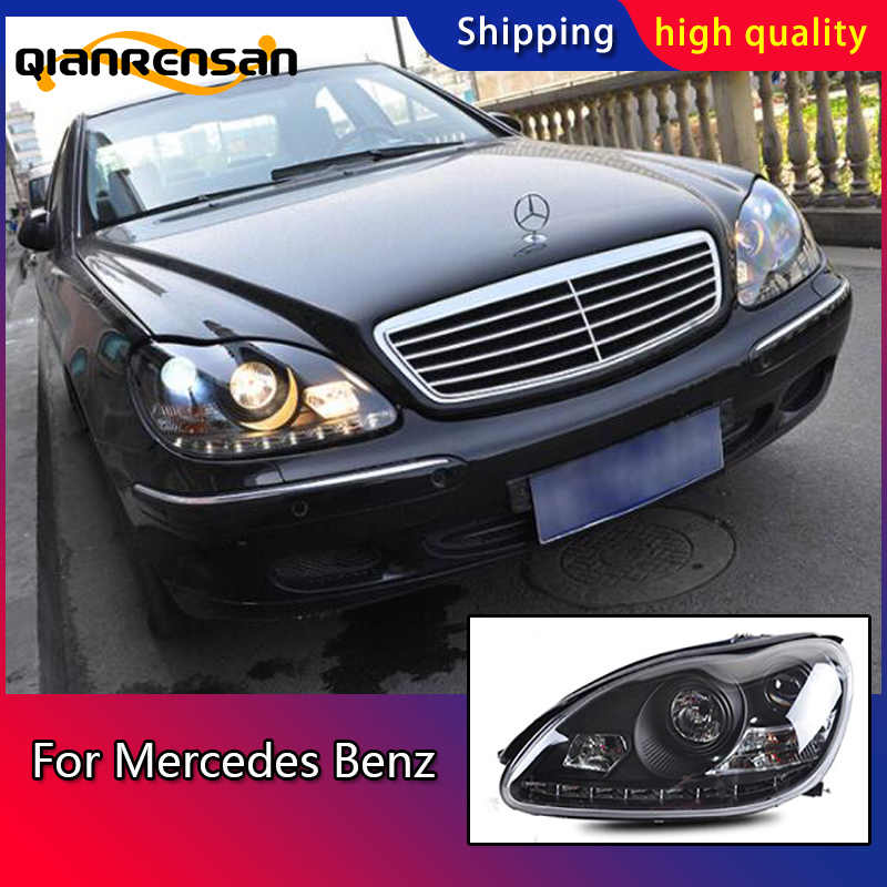 Car Styling Head Lamp case for Mercedes Benz W220 S280 S320 S500 S600 Headlights LED Headlight DRL Bi-Xenon Lens HID Double