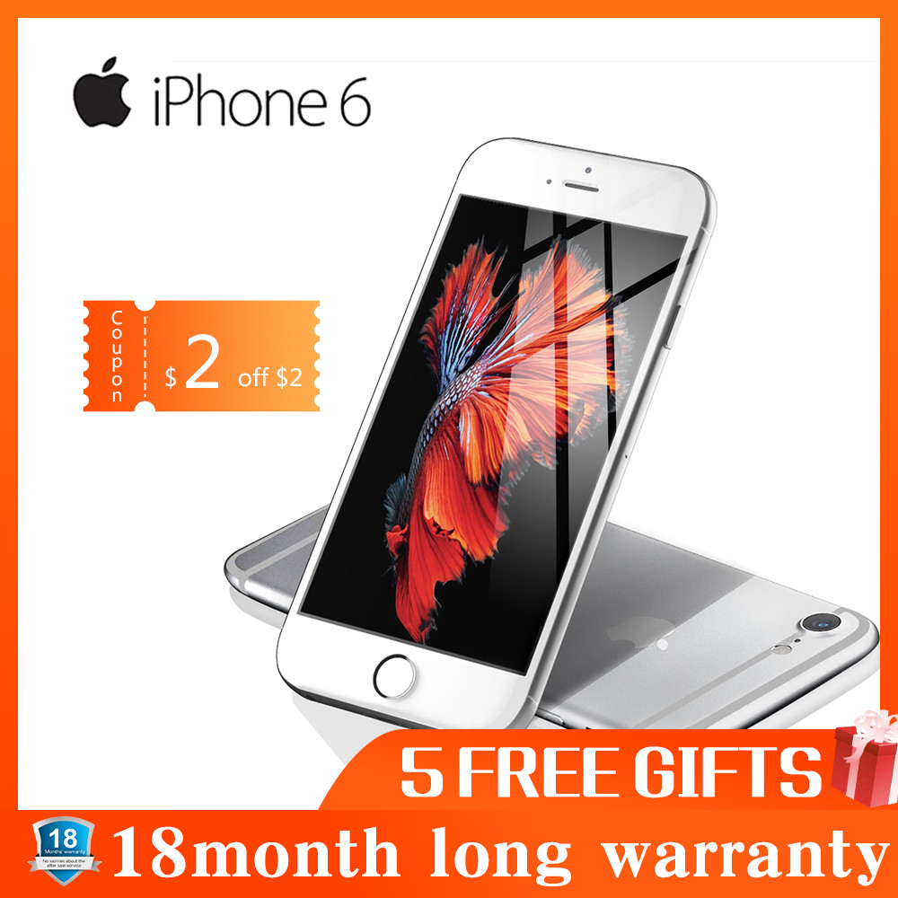 Renoviert Apple iPhone 6 smartphone 1GB RAM 16GB ROM 12.0MP LTE kamera fingerprint entsperrt 4,7 zoll handy WIFI GPS 4G