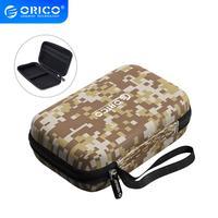 ORICO Hard Case Tasche Power Bank Fall für 2,5 Festplatte U-Disk USB Kabel Externe Speicher Durchführung SSD HDD Fall Lagerung box