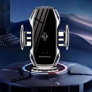 Image 3 - Capteur intelligent voiture support de téléphone charge rapide chargeurs sans fil support de voiture universel pour iPhone pour Huawei AI charge sans fil