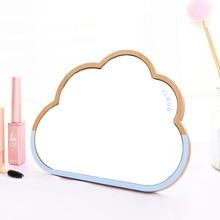 Bao дизайн облака настольные деревянные зеркальные творческое, настенное двойное предназначение Зеркало высокой четкости дерево макияж зеркало