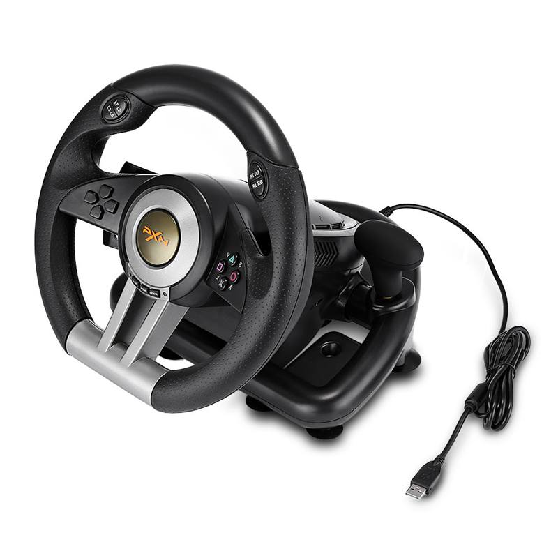 PXN Racing Game Pad 180 Degree Steering Wheel Vibration Joysticks With Foldable Pedal For Pc Ps3 Ps4 All-In-One image