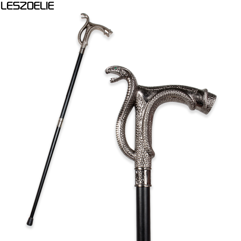 Cobra-Head Luxury Walking Stick Cane For Men Fashion Decorative Walking Canes Party Vintage Stick Elegant Hand Walking Canes