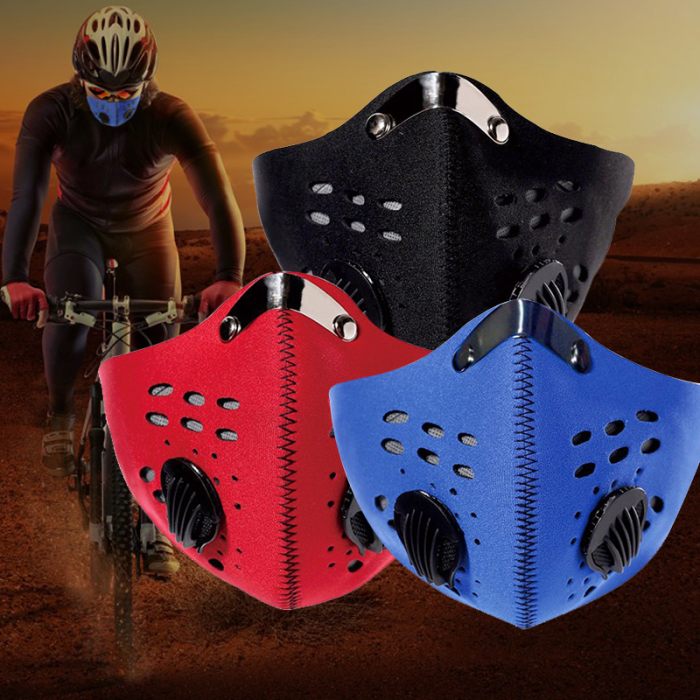 Activated Carbon Filter Mask Anti Dust Bacterial Face Mask Men Women Muffle Running Cycling Mouch Masks