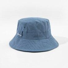 Fashion Women Pop Brand Bucket Hat Kpop Street Vintage Fisherman Hats Solid Color Cotton Washed Sun Visor Caps Female Cap
