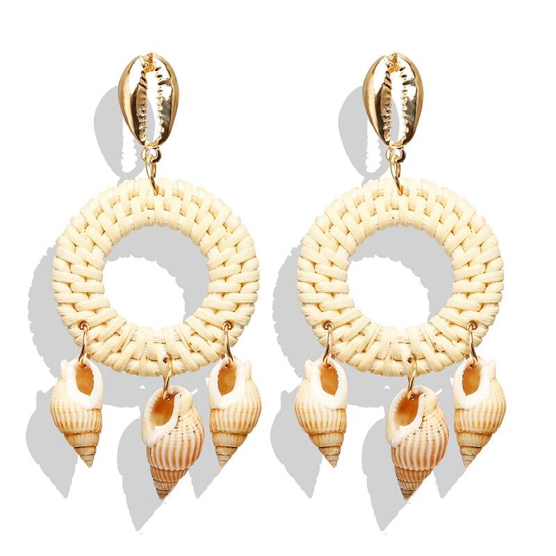 Yobest Fashion Women Simple Pearl Drop Earrings Summer Boho Jewelry Handmade Natural Sea Shell Earrings For Girls 2019
