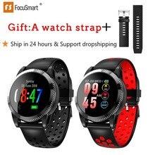 FocuSmart 2020 New Smart Watch Men 1.3 Inch Waterproof Sport Smartwatch Heart Rate Monitor Blood Pressure Watch for IOS Andriod цена и фото
