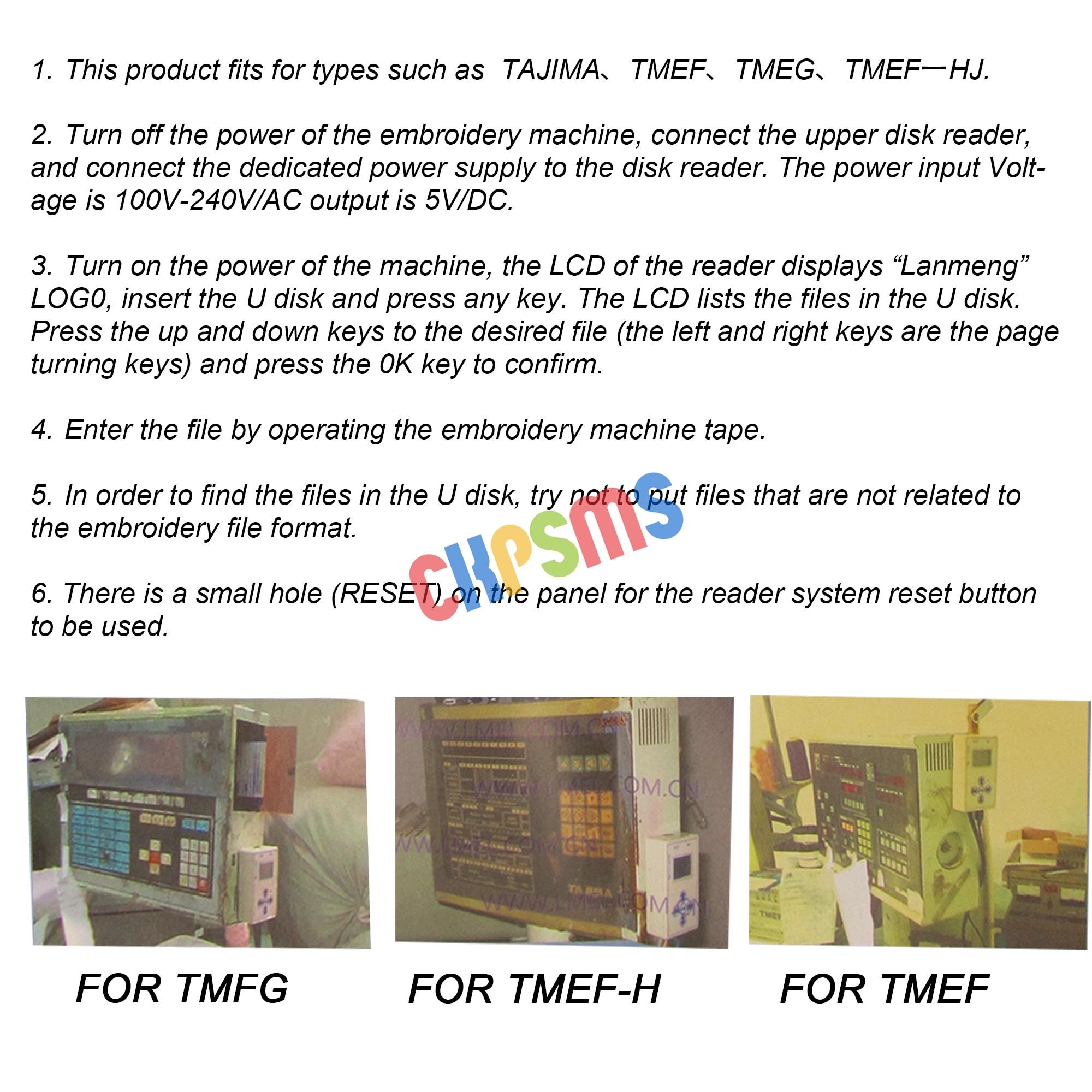 USB READER for Tajima embroidery machine TMFX TMEF TME-DC TMEX TMEF-H TMEG