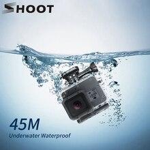 تبادل لاطلاق النار 45 متر تحت الماء مقاوم للماء الحال بالنسبة ل GoPro بطل 7 6 5 أسود عمل كاميرا واقية الإسكان الحال بالنسبة الذهاب برو 7 6 5 الملحقات