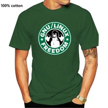 Mens T Shirts Personalized Gnu Coffee Freedom Linux T Shirt Vintage Colors Comic T-Shirt Round Collar Tshirt Euro Size