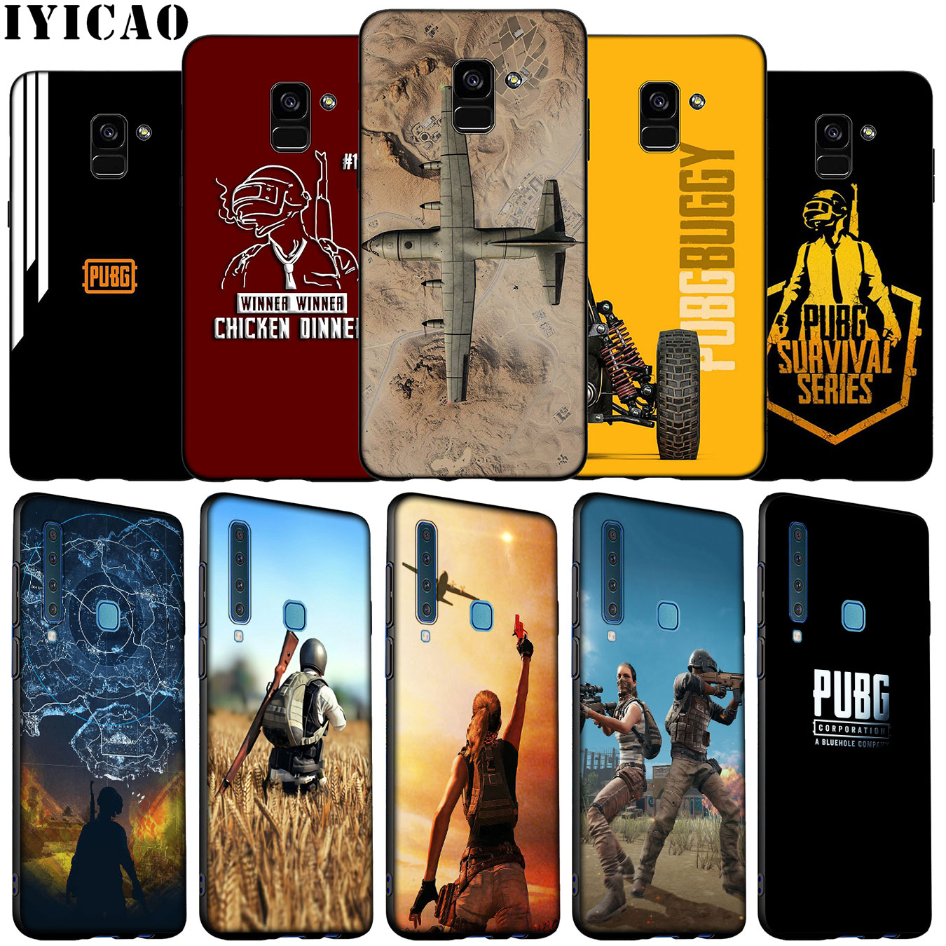 PUBG Game Soft Silicone Phone Case for Samsung Galaxy A6 Plus A9 A8 A7 2018 A3 A5 2016 2017 Note 9 8 10 Cover image