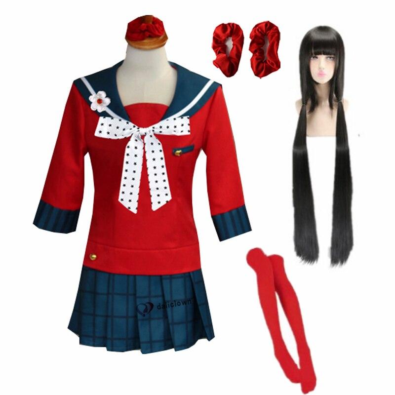 Danganronpa v3 matando harmonia harukawa maki escola uniforme cosplay traje