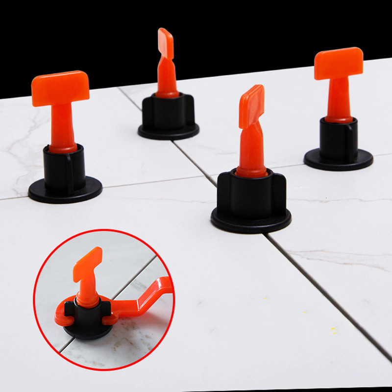 10pcs Reuseable Tile Leveling System Clips Adjustable Locator Spacers Flooring Wall Tiles Ceramic Level Wedges Construction Tool