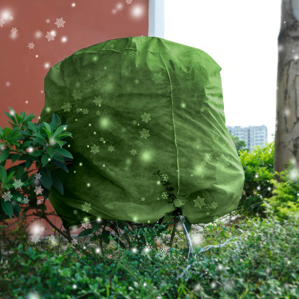 Cylindrical Plant Antifreeze Set 200x200x230cm Drawstring Shrub Cold Jacket Garden Protection Bag Winter Tree Protective Cover|Plant Covers| |  - title=