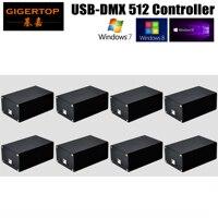VERKAUFS-TIPTOP HD512 USB DMX 512 Dongle Bühne Licht PC/SD Karte Box Controller SD512III USB Netzteil 512 DMX ausgang Kanäle x 8PCS