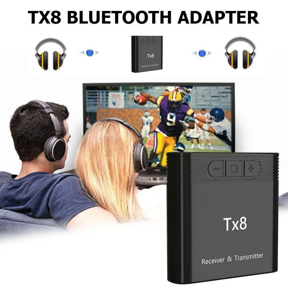 Bluetooth 5.0 Wireless Music Adapter TX8 Computer Portable TV Long Range Accessories Sender Home Transmitter Receiver Audio Car
