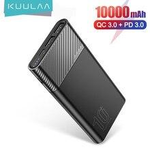 KUULAA batterie d'alimentation 10000mah Portable chargeur PowerBank batterie externe USB appauvrbank Charge rapide pour Xiaomi Mi 9 iPhone 11 12