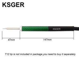 Image 3 - KSGER T12 In Lega di Alluminio FX9501 Manico In Fibra di Carbonio Per STM32 OLED Stazione di Saldatura di Ferro Penna di Punta di Saldatura Elettrica Strumenti di V2.1S