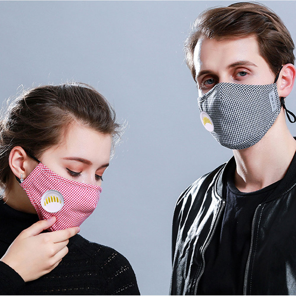 Cotton Mask Breathing Valve Washable Mouth Face Masks Anti Dust Face Mask