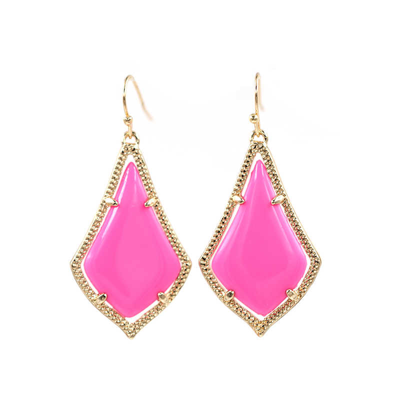 Kace Highly Bright Hot Pink Dangle Drop Earrings for Women