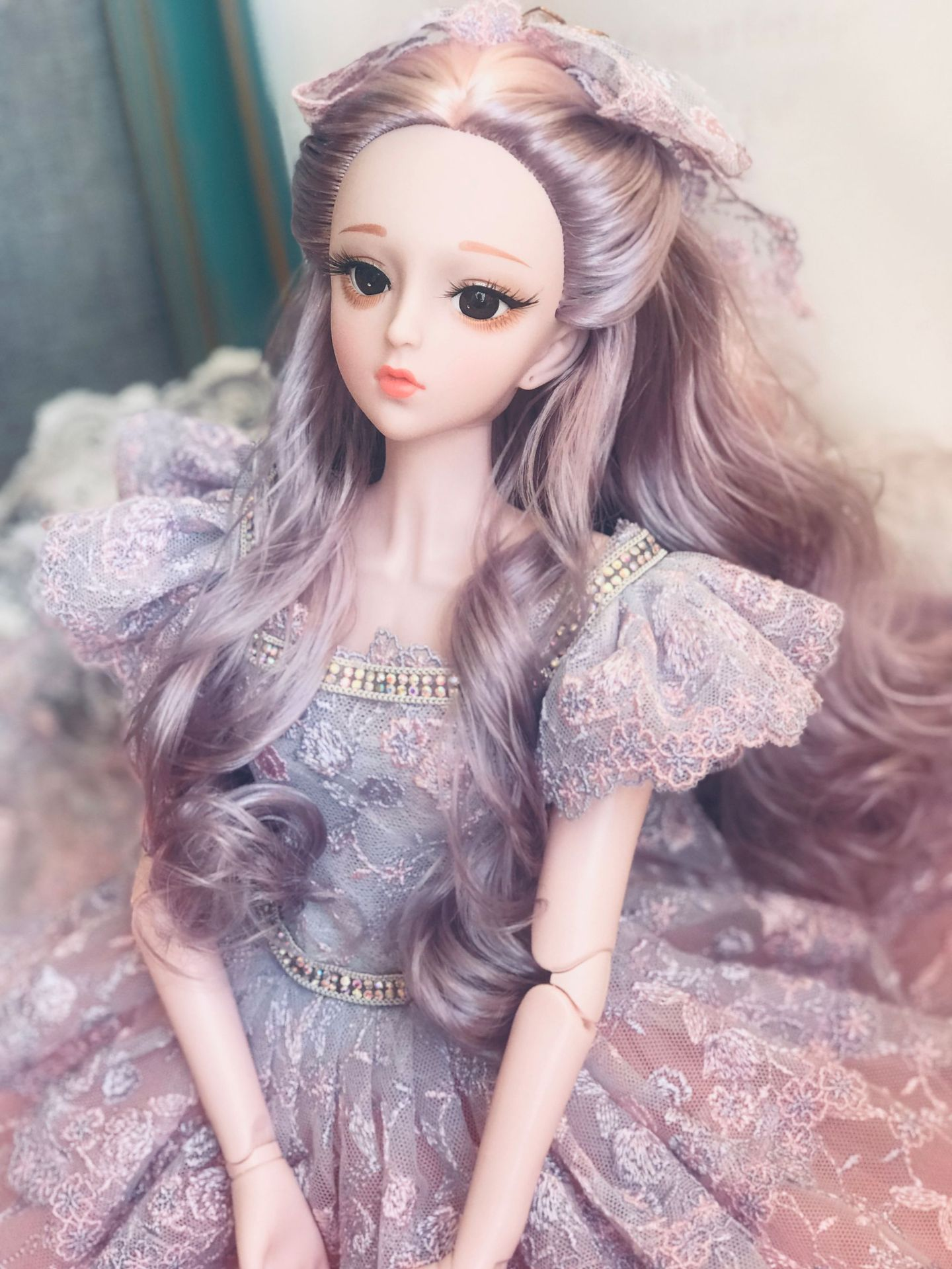 Long Wig BJD Doll 60cm Naked Doll 3D Eyes 23 Movable Jointed  Plastic Body Beautiful DIY Doll Accessories Toys For Girls Gift