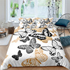 Home Living Luxus Schmetterling Drucken 2/3Pcs Weiche Bettbezug Kissenbezug K��nigin Gr����e und K��nig Gr����e Kinder Bettw��sche set
