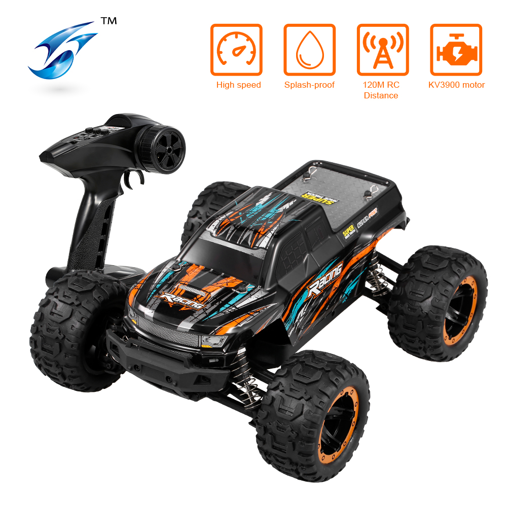 Linxtech 16889 1/16 45km/h Racing RC Car Brushless Motor 4WD Big Foot Off-Road RC Buggy Car Toy All Terrain for Kids VS 12428