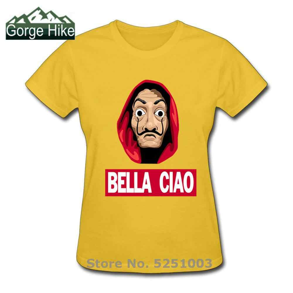 Frauen Nizza Hallo Lustige Bella Ciao T Shirts Geld Heist Tees TV Serie Kurzarm T-shirts Wome Haus von Papier mode T-Shirts