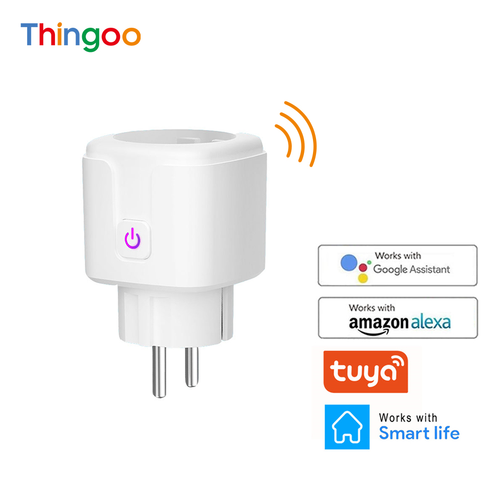 Voice Control Energy Monitor Timing European Outlet Enchufe Inteligente Wifi Smart Life Remote Socket Homekit Plug EU 16A