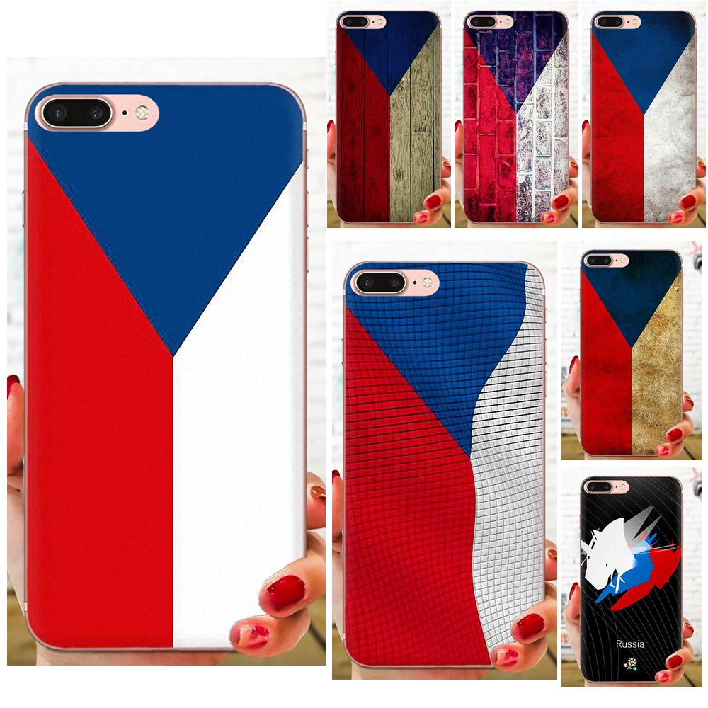 Soft <font><b>Mobile</b></font> <font><b>Case</b></font> For <font><b>Samsung</b></font> Galaxy A10 A20 A20E A3 A40 A5 A50 A7 J1 J3 J4 J5 J6 <font><b>J7</b></font> 2016 <font><b>2017</b></font> 2018 Czech Republic Flag image