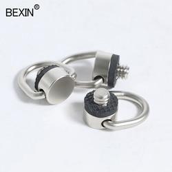 Dslr 1/4 strap screw d ring śruba do kamery zamontuj 1/4 cala żelazna płyta szybkiego uwalniania adapter śrubowy do aparatu w Monopody od Elektronika użytkowa na