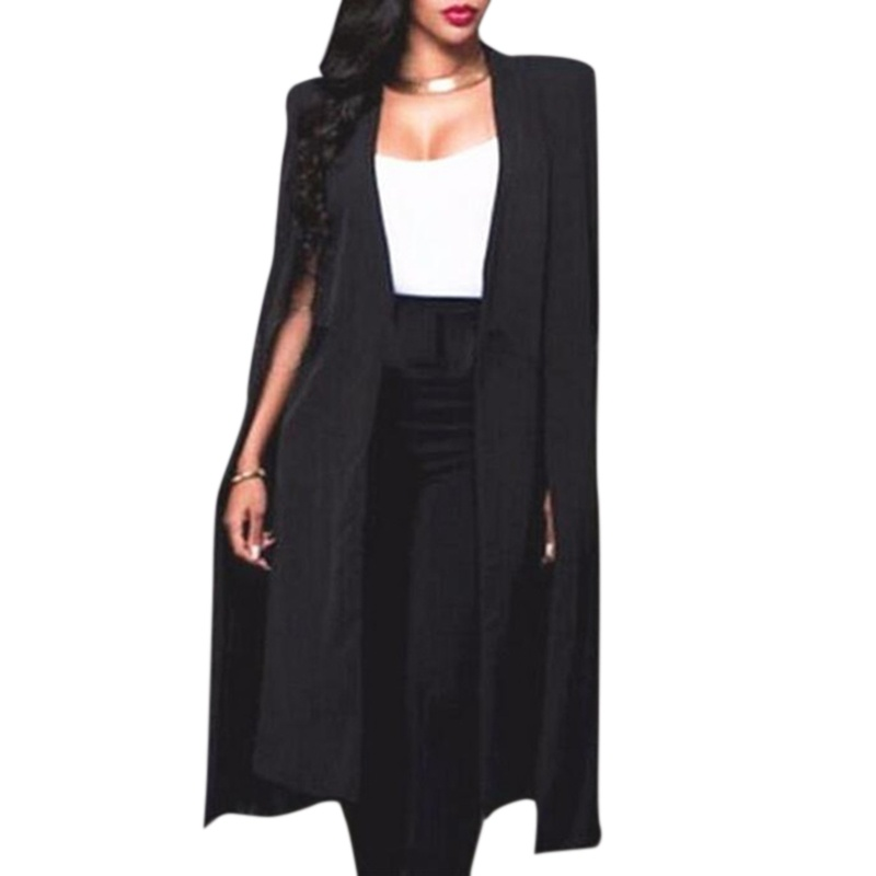 Fashion Women Blazers Slim Cardigan Suit Commuter Double-sided Woolen Irregular Long Ladies Blazer