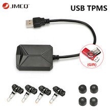 JMCQ USB Android TPMS Tire Pressure Monitoring System Display for Android Car DVD Radio Multimedia Player With 4 sensors large size screen monitors car tire pressure monitoring system car tpms usb connecting android dvd mp5