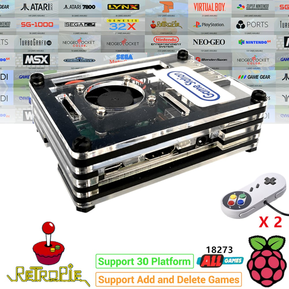 Raspberry PI 3 Model B+ Arcade Console Retro PIE Full DIY Kit 128 GB 18000+ Game