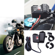 цена на Waterproof Motorcycle Cigarette Lighter Socket Splitter Power Adapter With Dual USB Charger DC 12V Motorcycle Cigarette Lighter