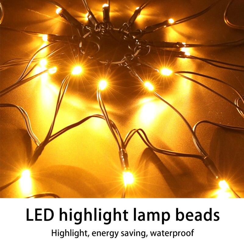led halloween aranha web string string luzes 04