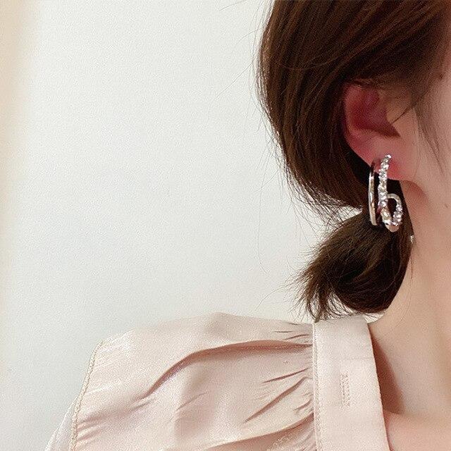 2021 New Hot Selling Zircon Earrings Crystal Earrings 5