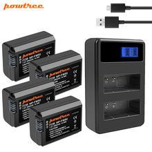 Аккумулятор powtree 2000 мач np fw50 akku + зарядное устройство
