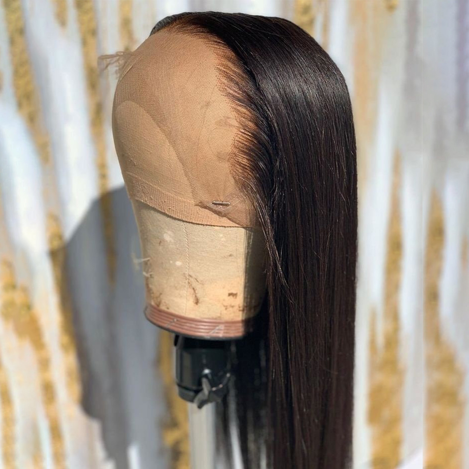 150% Straight Wig  Lace Front Human Hair Wigs Pre Plucked Hair Line With Baby Hair Brazilian Remy Hair Bleached Knots Eseewigs